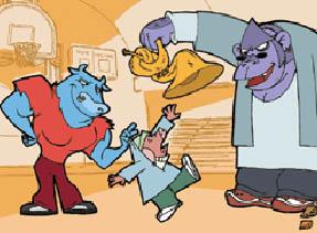 子どもにいじめを分かりやすく説明するアニメ(「Stop Bullying Now」運動のウェブサイトより)