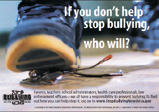 「Stop Bullying Now」は、ブッシュ大統領が提唱して2003年に始まった全米規模のいじめ防止運動です