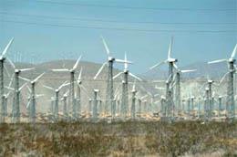 カリフォルニア州の風力発電地帯(写真 FreeFoto.com)