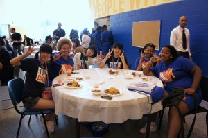Swing Dolphins visit L.B. Landry - O.P. Walker College and Career Preparatory School