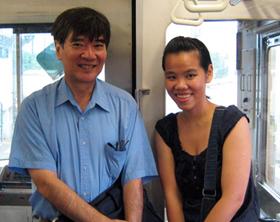 大山教授と彼の地元鎌倉にて(写真提供 Phuong Bui)