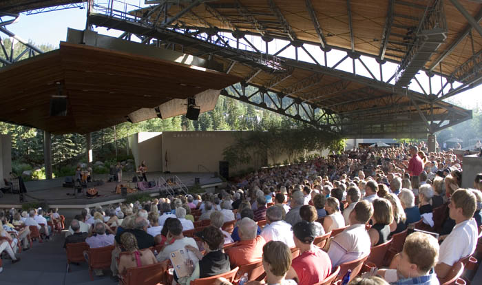 A concert at the Gerald R. Ford Amphitheater in Vail (Photo by Matt Inden/Miles, courtesy of the Colorado Tourism Office)
