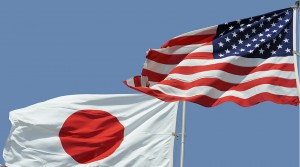 American Flag and Japanese flag