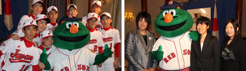 ソフトボール日本女子代表のメンバー、そして武蔵府中リトルリーグ世界チャンピオンのメンバー