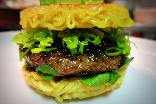 "Flickr CC photo by ManEatManila – ""Ramen Burger- TDB"""