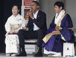 Barack Obama, Michiko Sato, Takao Sato