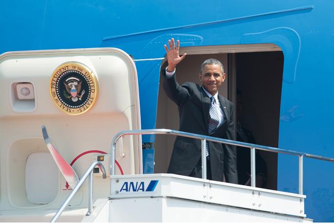 President Obama Departs Japan