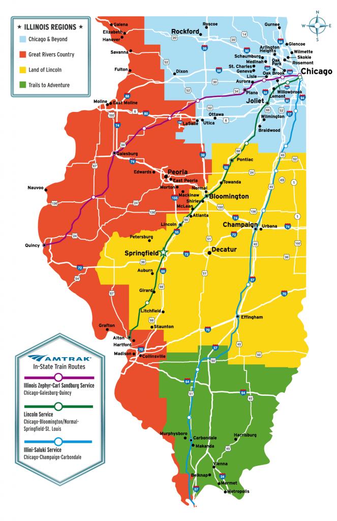 イリノイ州の地図 ©イリノイ州観光局