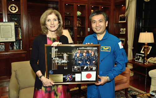 photo of amb kennedy and koichi wakata