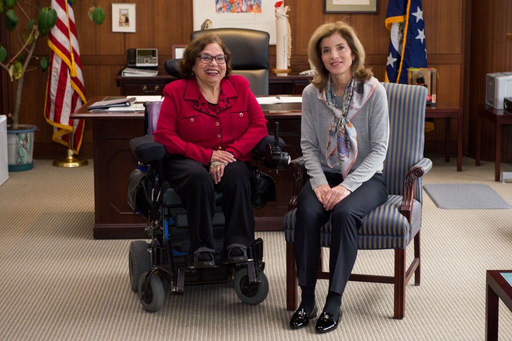 Ambassadors Kennedy Greets Sp. Advisor for Disability Rights Heu