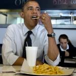 大統領一家でフライドポテトが大好きなのは、どうやらミシェル夫人だけではないようだ(© AP Images)