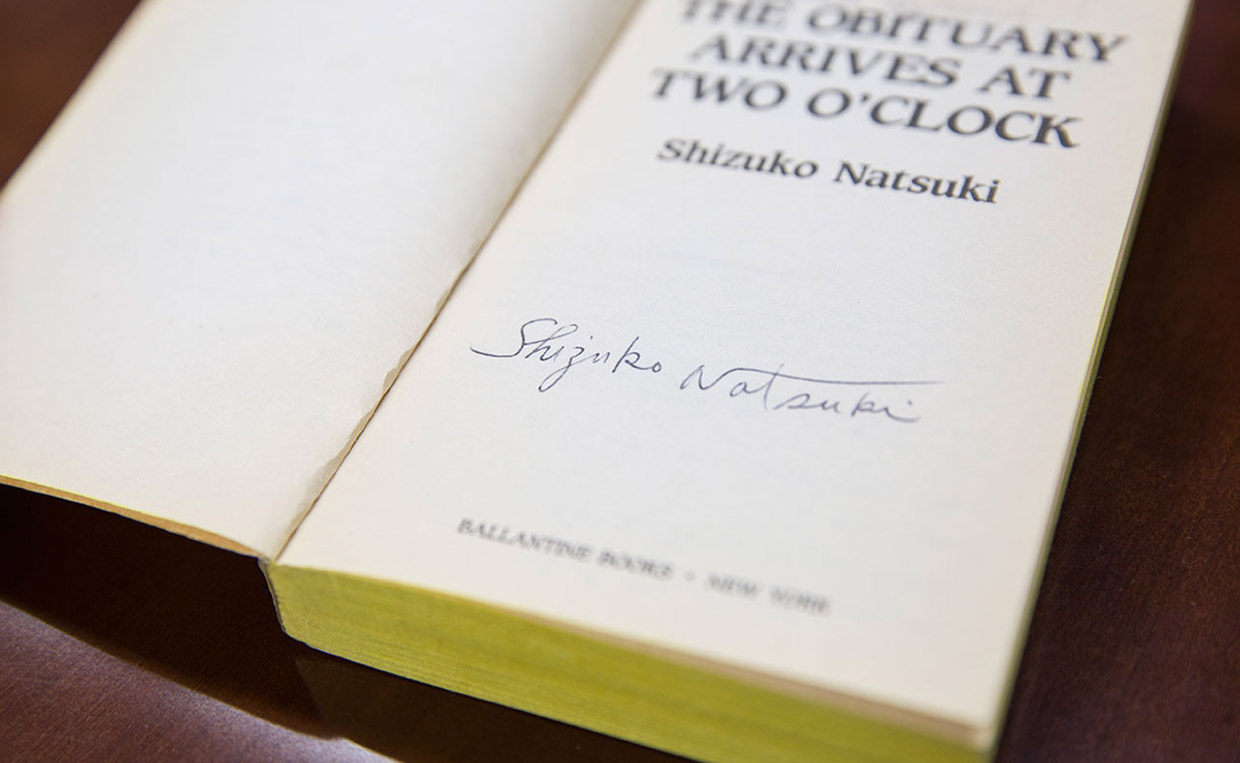 """The Obituary Arrives at Two O'Clock"" autographed by Shizuko Natsuki"