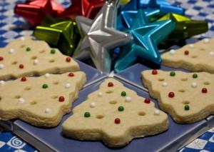クリスマスツリーの形のクッキー  (AP Photo/Larry Crowe)