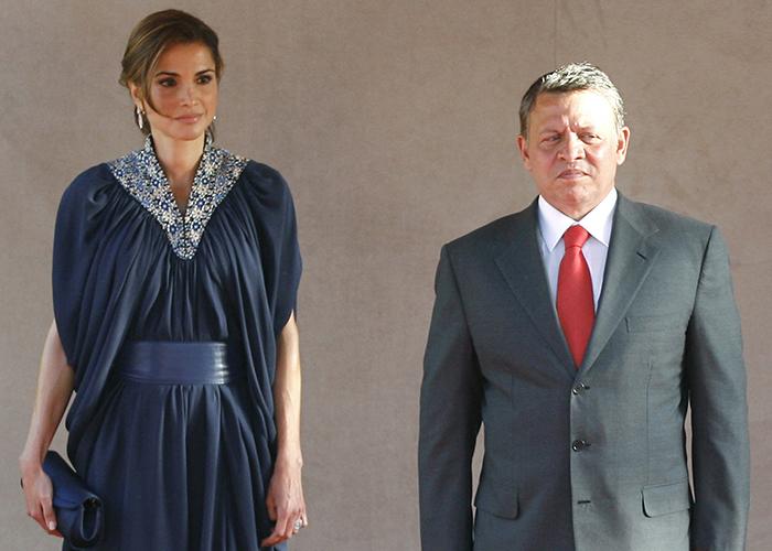 ヨルダンのアブドラ国王とラーニア王妃 (© AP Images)