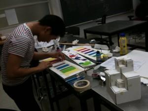 パーソンズ大学で美術を学ぶKodoさんの様子