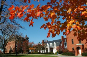 Tufts University Campus in Fall, Medford, MA