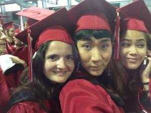 パーソンズ大学の卒業式での様子