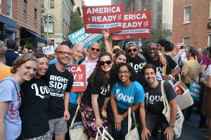 Freedom to Marry staff and supporters in New York to celebrate the Supreme Court ruling legalizing same-sex marriage on June 26, 2015. (Photo: www.freedomtomarry.org)