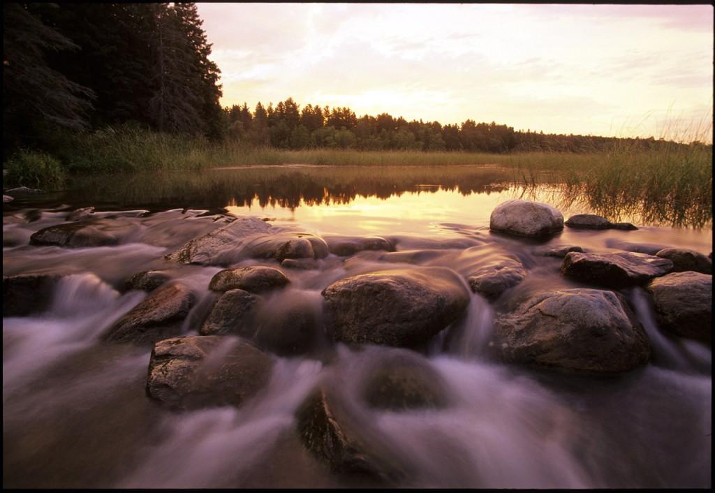 大河ミシシッピ川の源流となるミネソタ州北部にあるアイタスカ湖
