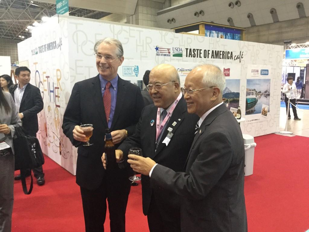 Chatting with JATA Chairman Tagawa