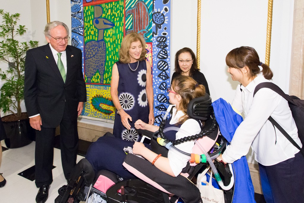 U.S. Ambassador to Japan Caroline Kennedy hosted a reception in honor of Senator Tom Harkin and guests from the Japanese disability community at her residence in Tokyo, Japan, on September 27, 2016.