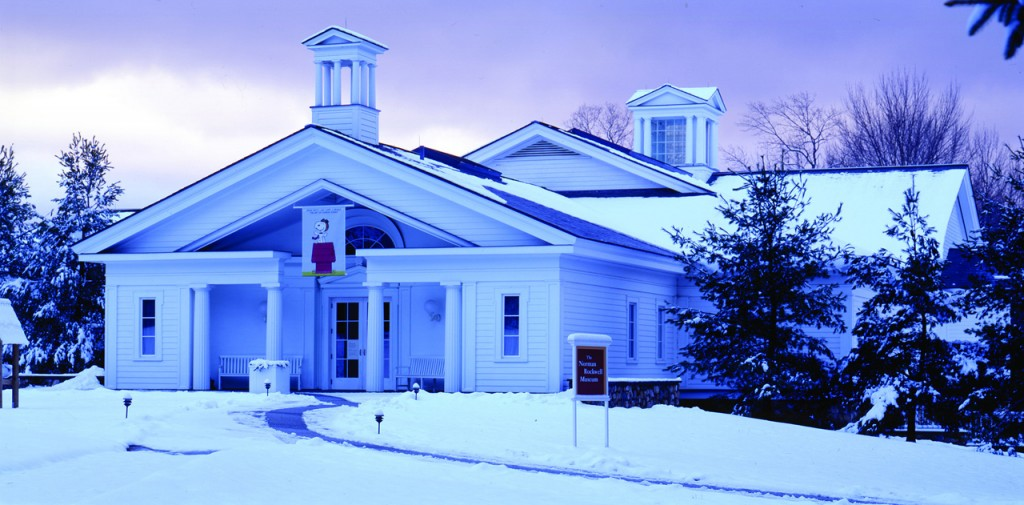 ノーマンロックウェル美術館の雪景色(by Art Evgans、マサチューセッツ州政府観光局)