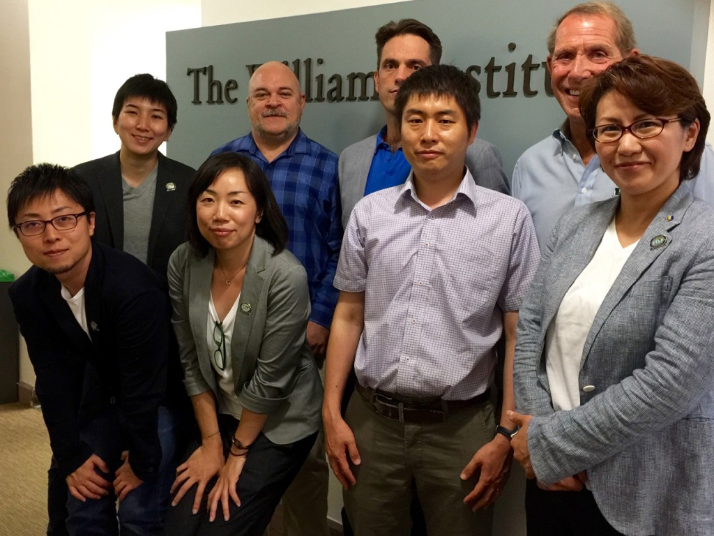 The IVLP participants also met with members of the William Institute at UCLA.