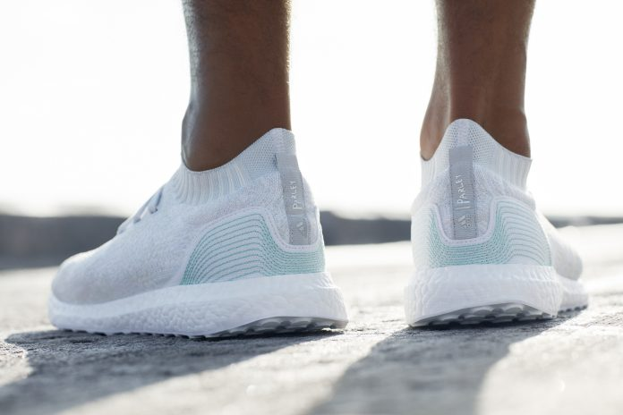 New Ultraboost Uncaged Parley shoes use the equivalent of 11 plastic bottles reclaimed from the ocean. (Courtesy photo)