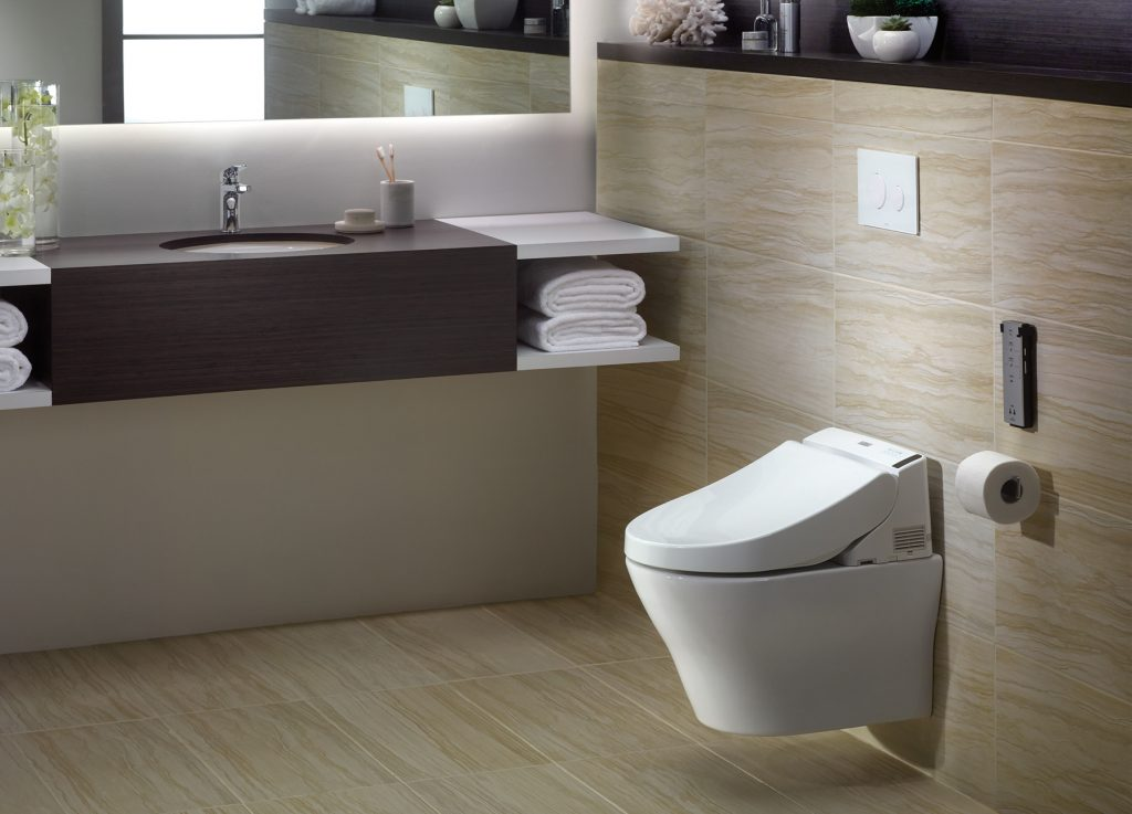 TOTO has popularized high-efficiency toilets with a remote control and other luxury features. (TOTO USA)