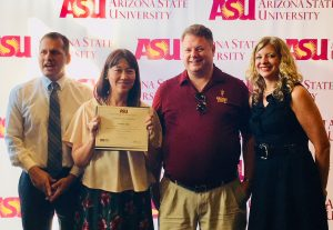 With Arizona State University instructors on the last day of the conference.