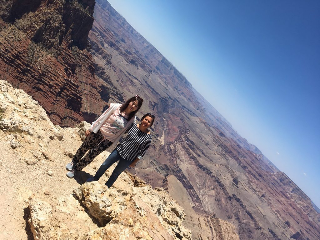 Visiting the Grand Canyon with a participant from Mexico after the conference.