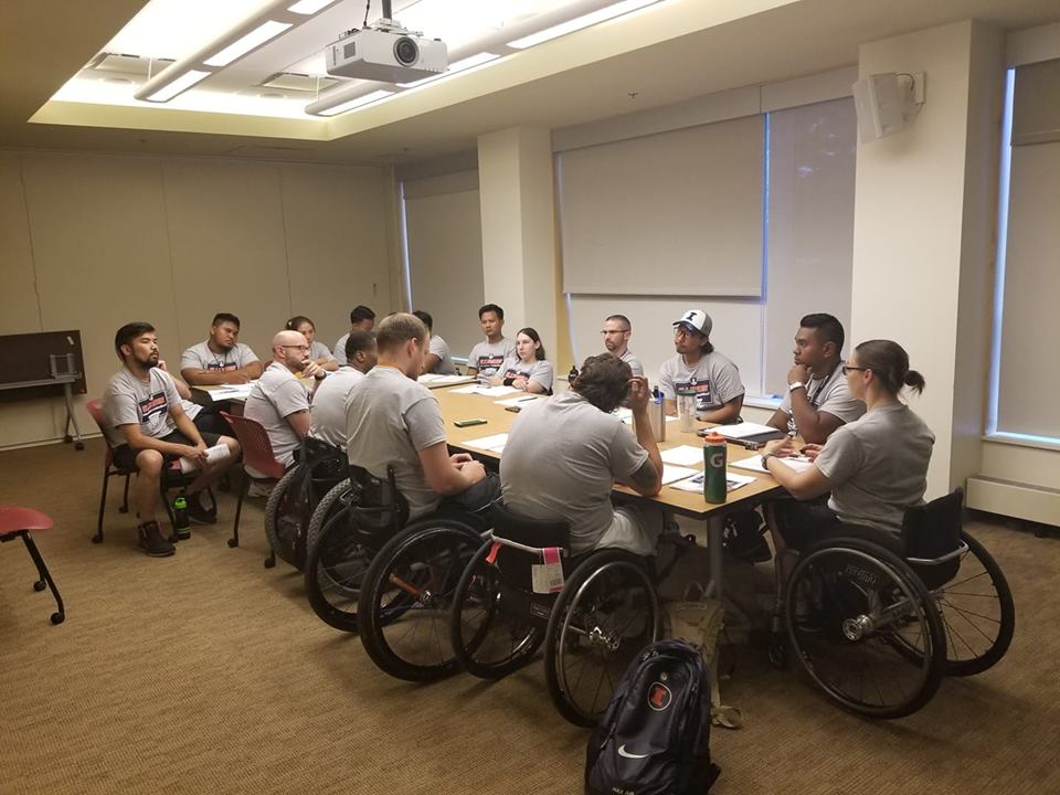 Saito participated in a coaching clinic at the Wheelchair Basketball Camp held at the University of Illinois. In addition to the coaching session, junior athletes learned about wheelchair basketball strategies and techniques at the five-day event.