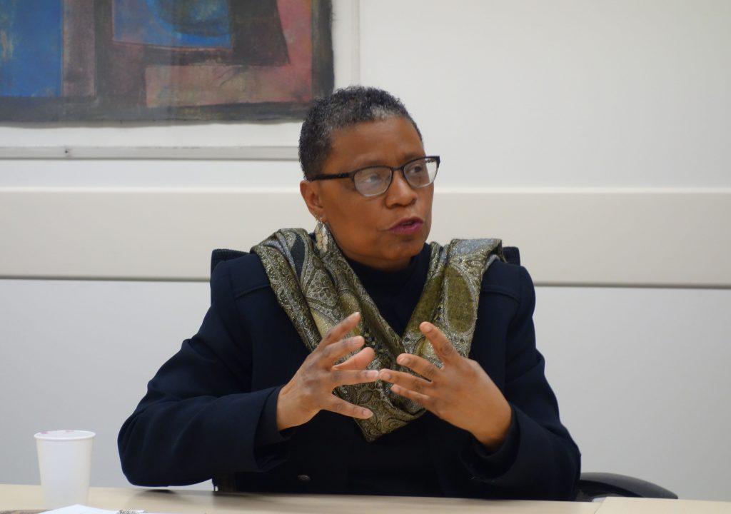 「アメリカン・ビュー」のインタビューで、ディープサウスの歴史と文化を話すパメラ・ムア博士(アーカンソー大学パインブラフ校)