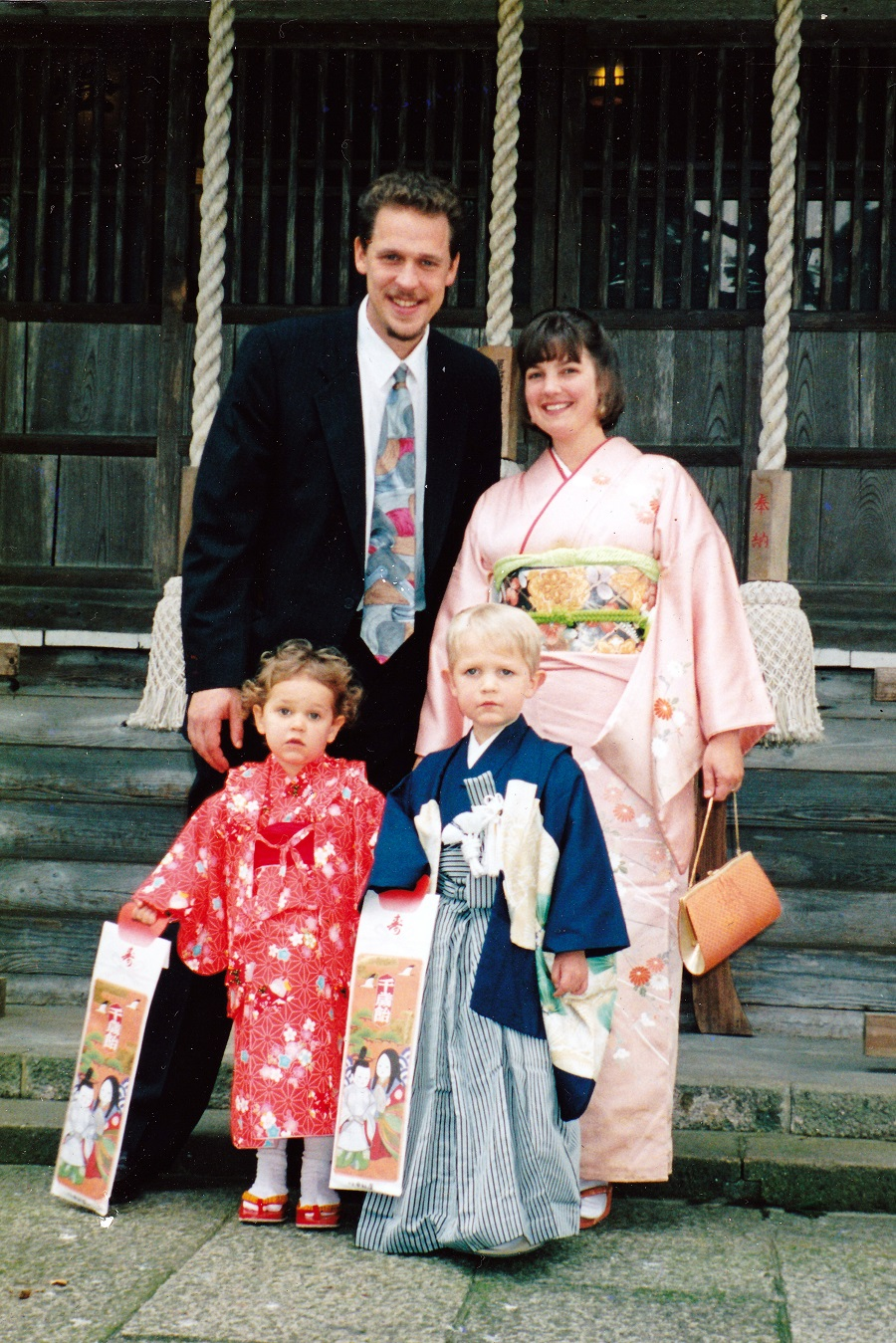 "Dressed Up for the ""Shichi Go San"" Festival at Shinmeisha Shrine in 1998"