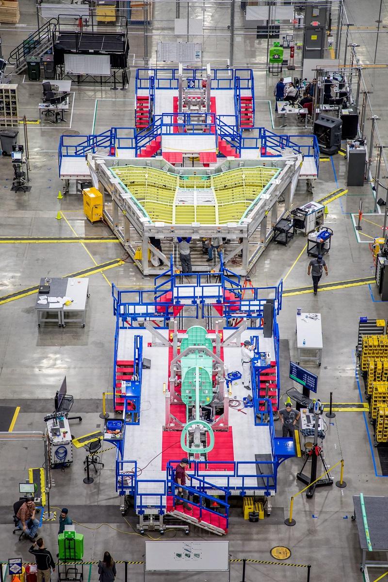 X-59の主要部分の組み立て(イメージ写真) (© Lockheed Martin)