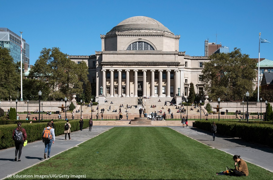 Elizabeth Hamblet tells students not to count themselves out of America's top-tier schools like Columbia University, pictured here. (© Education Images/UIG/Getty Images)