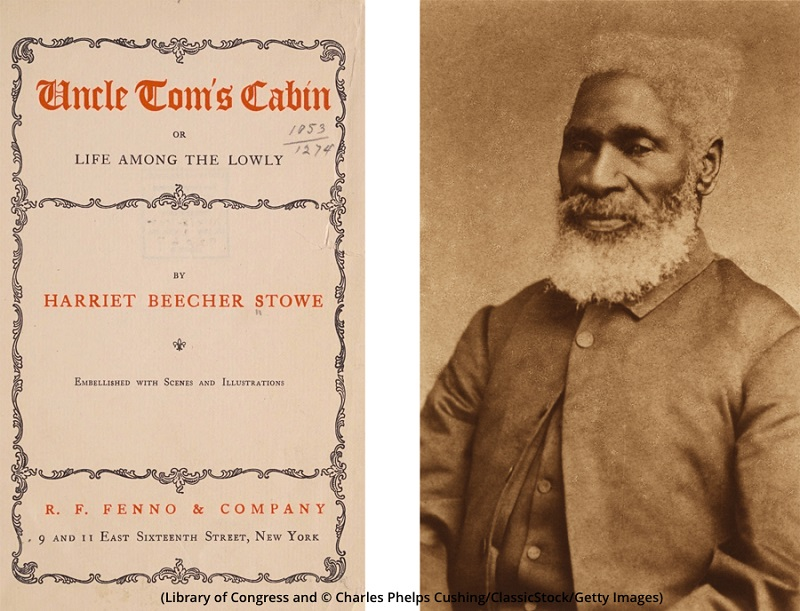 """The novel """"Uncle Tom's Cabin,"""" left, was inspired by Josiah Henson, right. (Library of Congress; © Charles Phelps Cushing/ClassicStock/Getty Images)"""