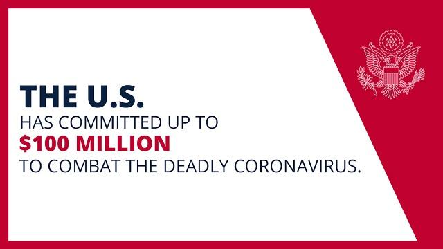 連邦政府は致死的なコロナウイルスと戦うため、最大1億ドルの拠出を表明