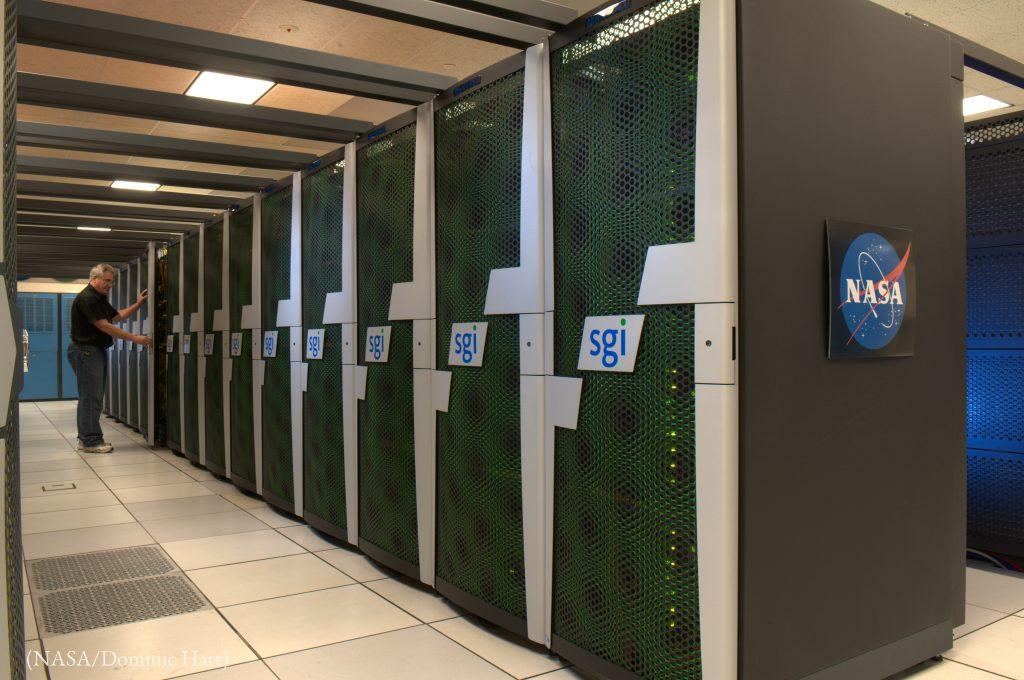 NASAがカリフォルニア州に所有する世界有数の最速スーパーコンピューター「プレアデス」(NASA/Dominic Hart)
