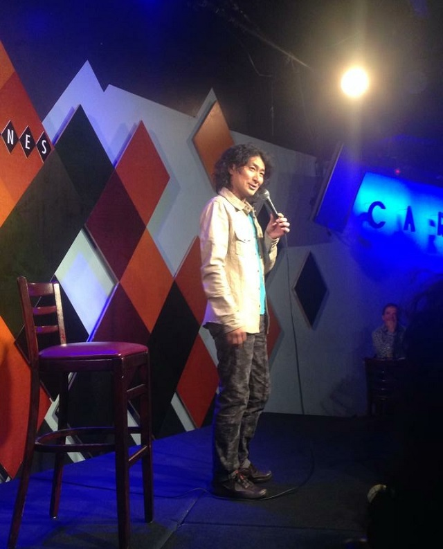 RIO on stage at Caroline's Comedy Club, Manhattan in January 2015