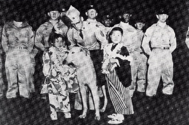 The first two children invited to Hawaii in 1957 (Photo courtesy of Holy Family Home)