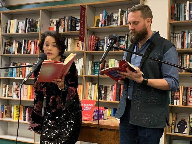 Poetry reading with Jeffrey Angles at an IWP open house event at a local bookstore.