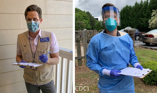 CDC workers in suburban Atlanta go door-to-door to test for antibodies in blood, to understand how the coronavirus is spreading. (CDC)
