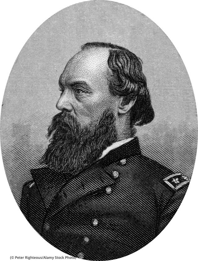 ゴードン・グレンジャー将軍。彫刻家ジョン・バター作。1866年頃 (© Peter Righteous/Alamy Stock Photo)