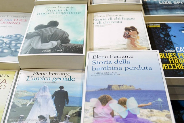 English translations of books by Elena Ferrante, shown here in their original Italian, are popular among Americans. (© Simona Granati/Corbis/Getty Images)