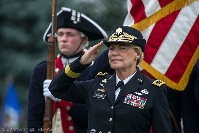 U.S. Army General Ann E. Dunwoody, former commander of the Army Materiel Command, was the first woman in the U.S. military to achieve the rank of four-star general. She retired after 38 years of service. (U.S. Army/Staff Sgt. Teddy Wade)