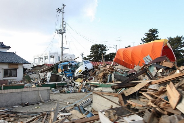 Tsunami debris in Miyagi Prefecture, March 23, 2011. (Photo Credit: Ben Chang, U.S. Embassy)