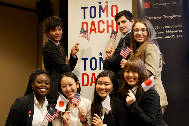 American and Japanese students engage in cross-cultural exchange through Building the TOMODACHI Generation: Morgan Stanley Ambassadors Program. (Photo courtesy of the TOMODACHI Initiative)