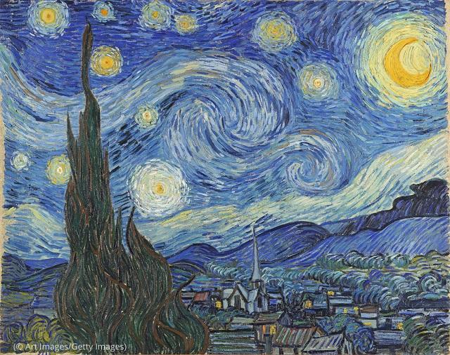 バーチャルな美術館訪問者が鑑賞できる作品の1つビンセント・バン・ゴッホの「The Starry Night(邦題:星月夜)」(© Art Images/Getty Images)