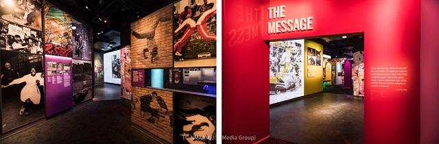 ニューヨークの市街地サウスブロンクスのヒップホップとラップの起源をたどるメッセージギャラリー (© NMAAM/353 Media Group)